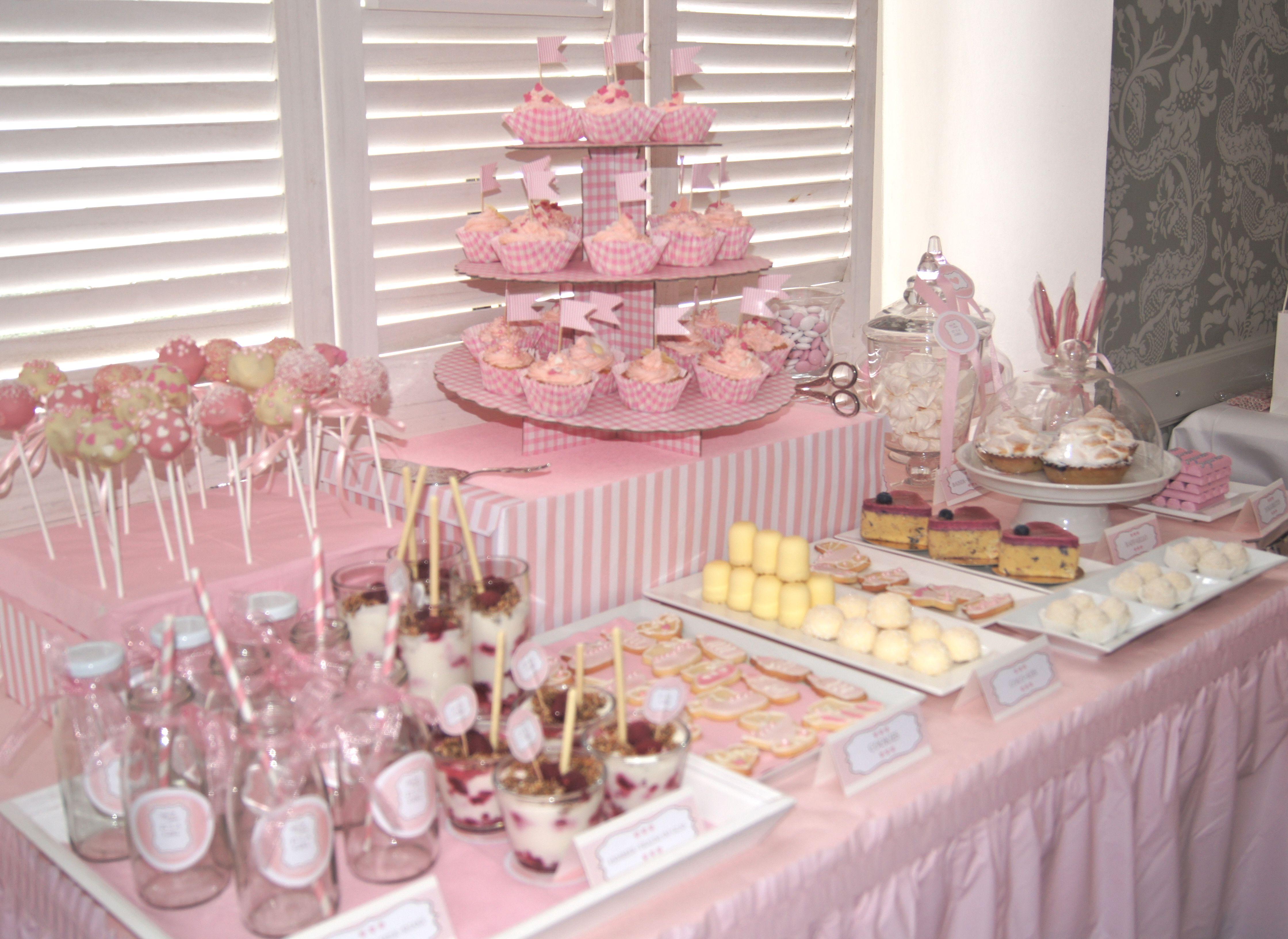 candybar rosa bautizo babyshower sweetevents