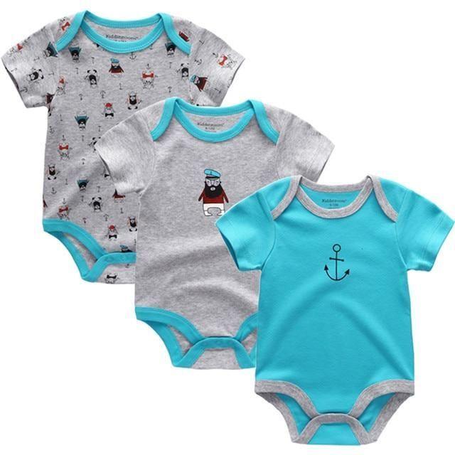 3pcs Lot Baby Bodysuit Newborn Bebe Boy Girl Clothing 100 Cotton Short Sleeves O Neckdre Baby Boy Clothes Newborn Newborn Boy Clothes Baby Girl Outfits Newborn