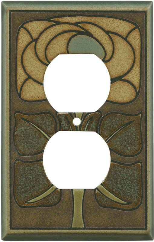 Product Name Wall Plates Outlet Covers Art Nouveau Flowers