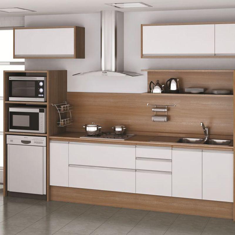 Cozinhas m veis brancos e bancada de madeira pesquisa - Bancadas de cocina ...