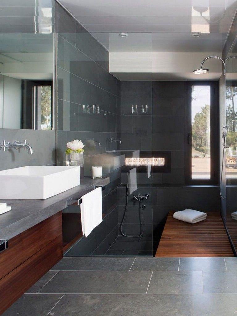 astounding calming modern minimalist bathroom white | 49+ Amazing Modern Minimalist House That Full of Surprises ...