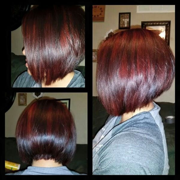 stacked wedge haircut pictures violet highlights stacked wedge bob haircut 5872