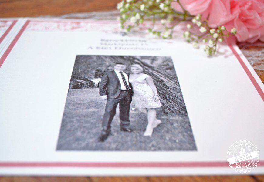 Individuelle Hochzeitspapeterie Hochzeitseinladung