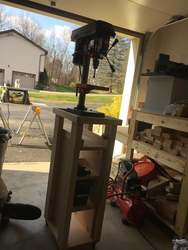rolling drill press cart with bonus storage buildsomething com