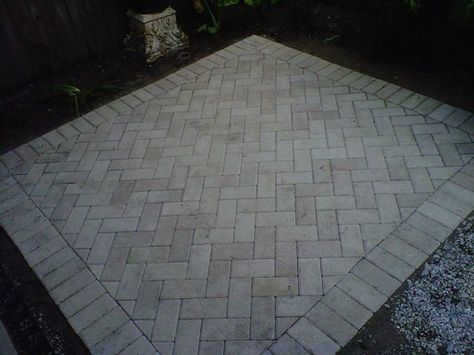 49+ Ideas Square Paver Patio Ideas Driveways in 2020 ... on Square Paver Patio Ideas id=44567