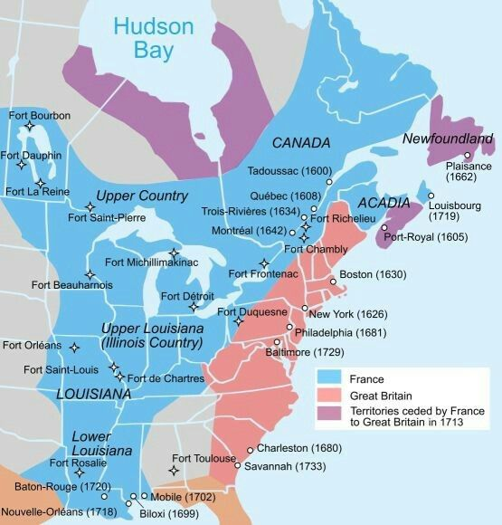 1700s new france Colonial History Pinterest