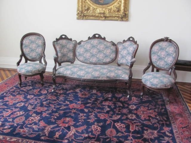 3 Pc Victorian American Antique Sofa Set 11cc19 Closeout