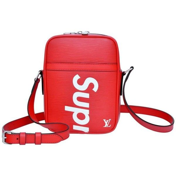 nuevo estilo de original de costura caliente marca famosa Preowned Supreme Louis Vuitton Red Shoulder Bag Danube Rare ...