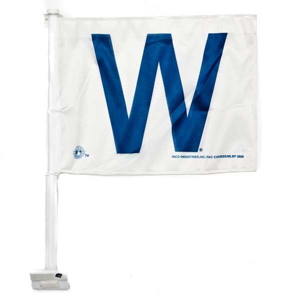 Chicago Cubs W Car Flag