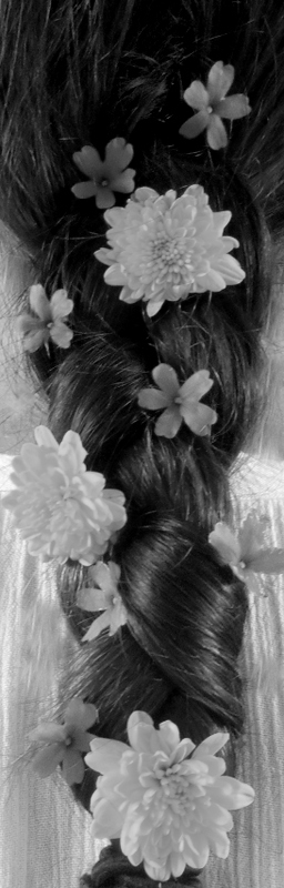 My mom's braid with some flowers that I put in it!