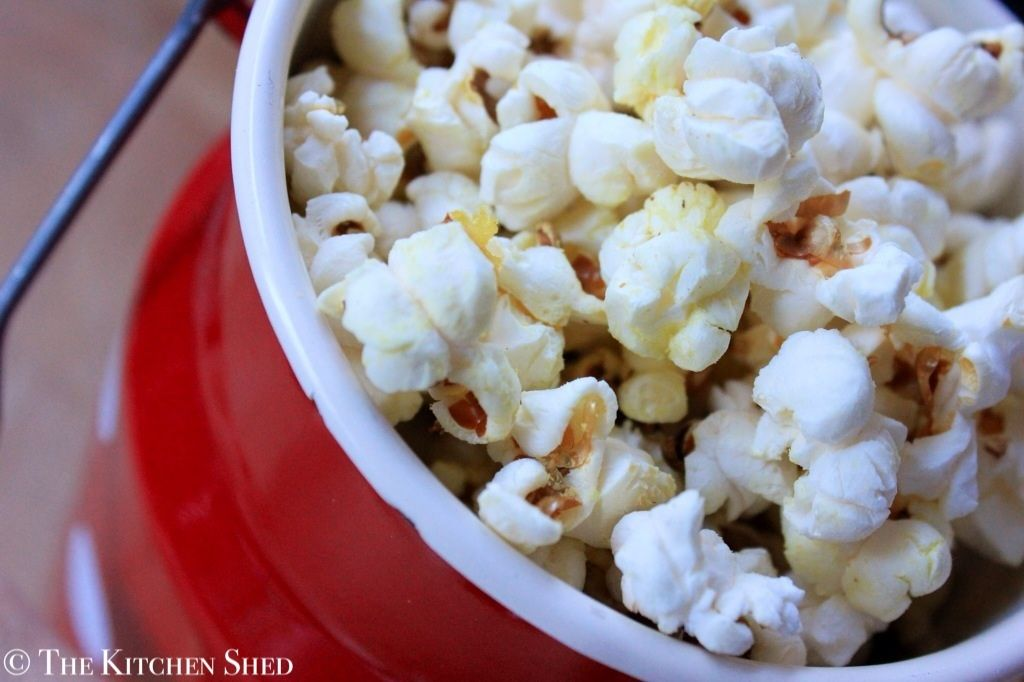 Clean Eating Popcorn - The Kitchen Shed