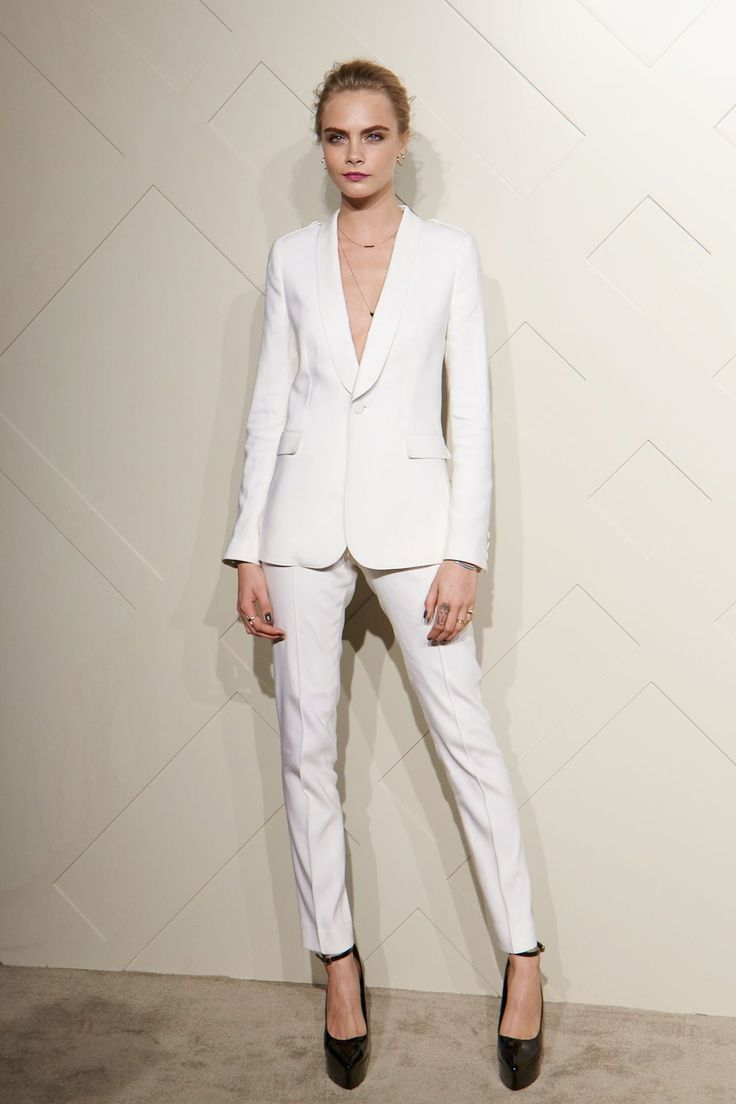 White Pant Suits For Women Cara Delevingne Style Nice Dresses Suits For Women