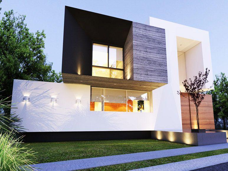 Portafolio fachadas arquitectura moderna fachada for Arquitectura y diseno de casas modernas