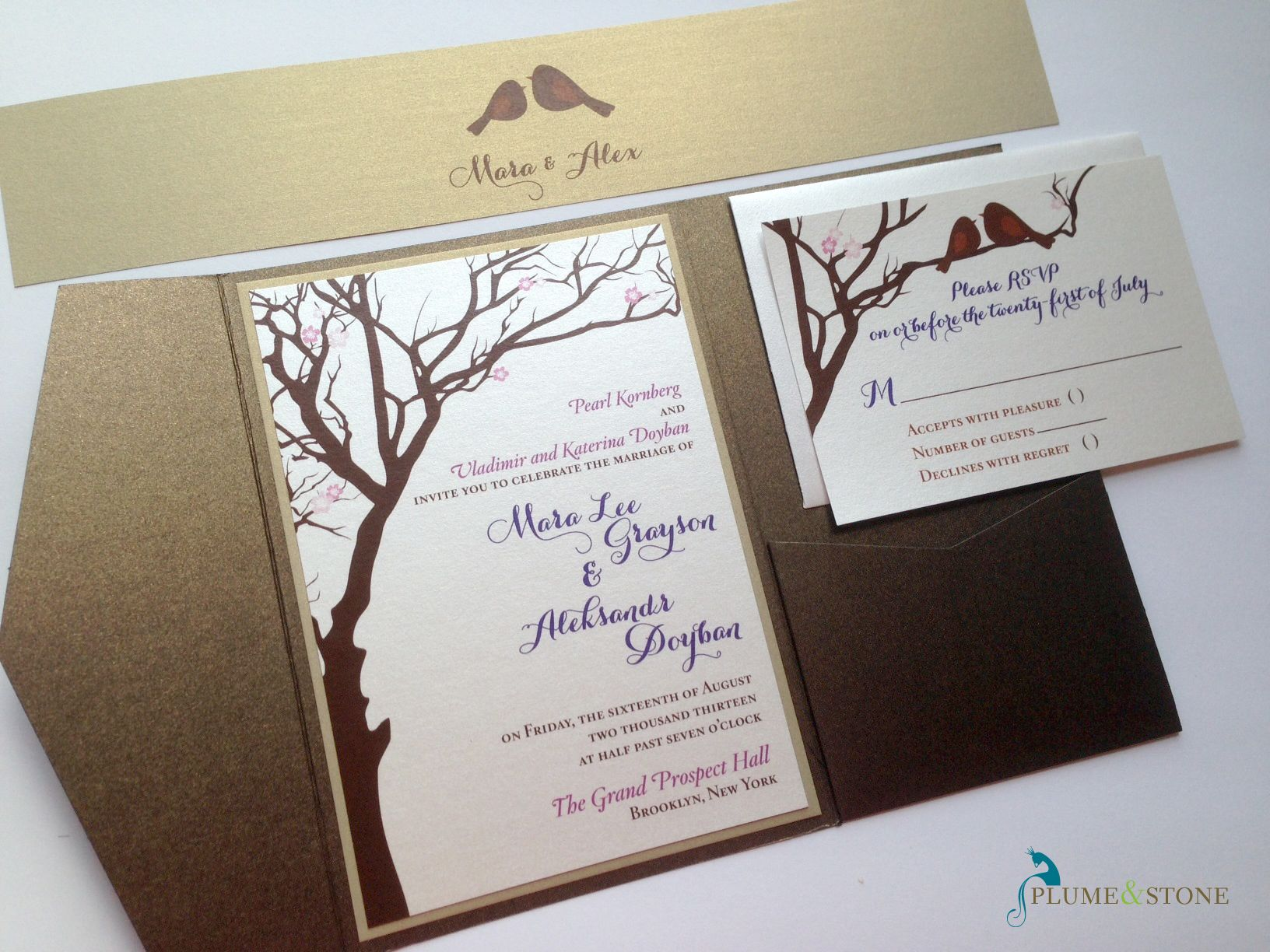 Love Birds Wedding Invitation By Plume And Stone Plume And Stone