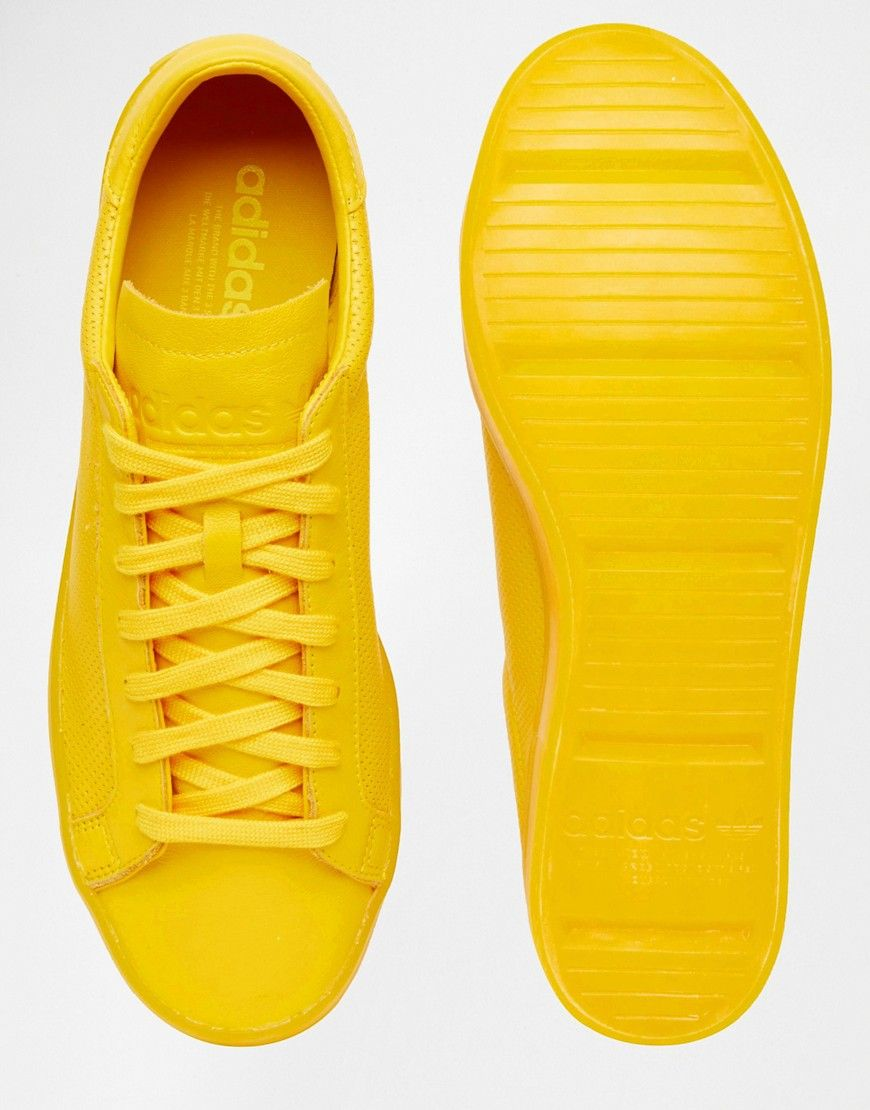 newest 666e0 b996d Image 3 of adidas Originals Court Vantage adicolor Trainers In Yellow S80254