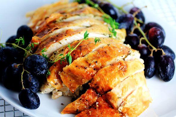 lemon and herb roast turkey breast carnal dish