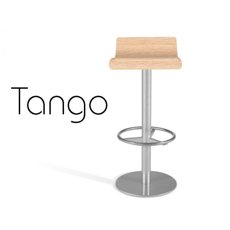 3670ed11b99b34 TANGO tabouret de bar assise bois naturel, finition Chêne clair ...