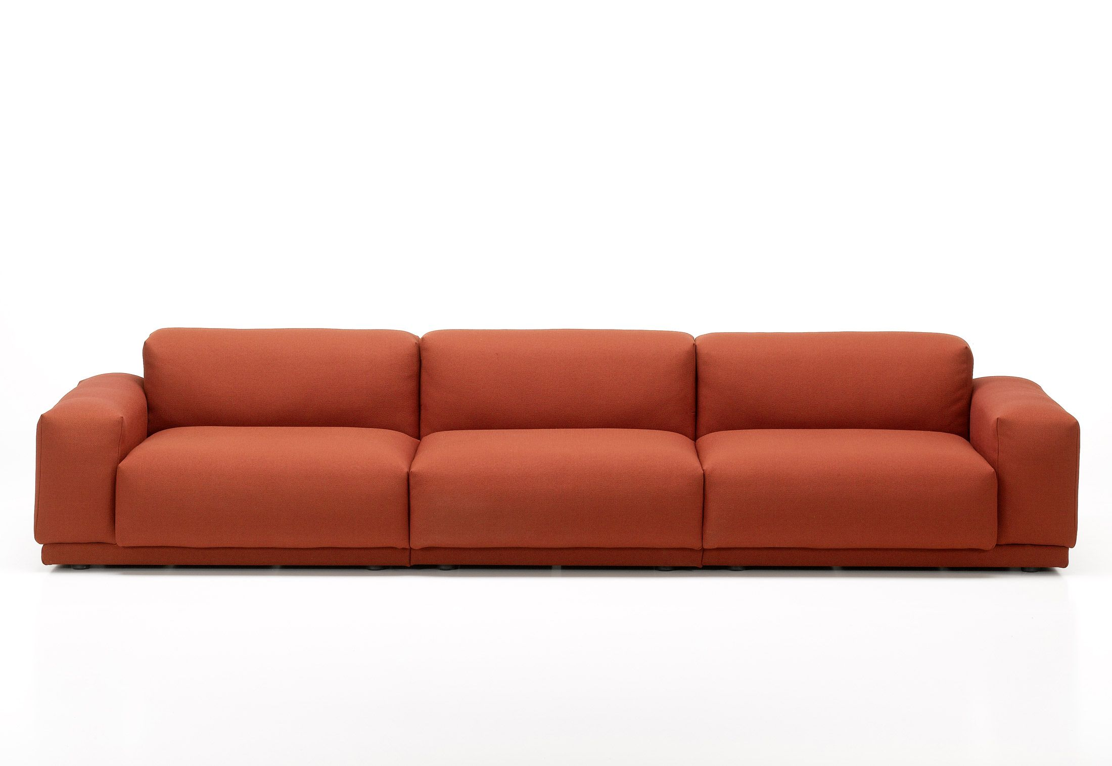 Place Carrot Red Orange Sofa By Jasper Morrison For Vitra