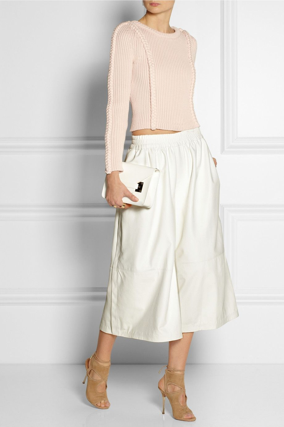 Adam Lippes | Leather culottes | NET-A-PORTER.COM