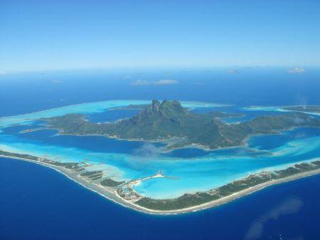 Aerial View of Bora Bora French Polynesia -