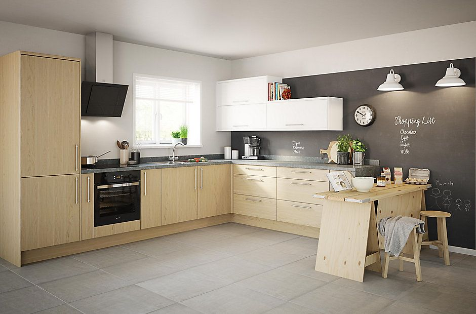 Kitchen Compare.com | Bu0026Q IT Marletti Oak Effect Integrated Handle | My  Future Home | Pinterest | Models, Kitchen Prices And Independent Kitchen