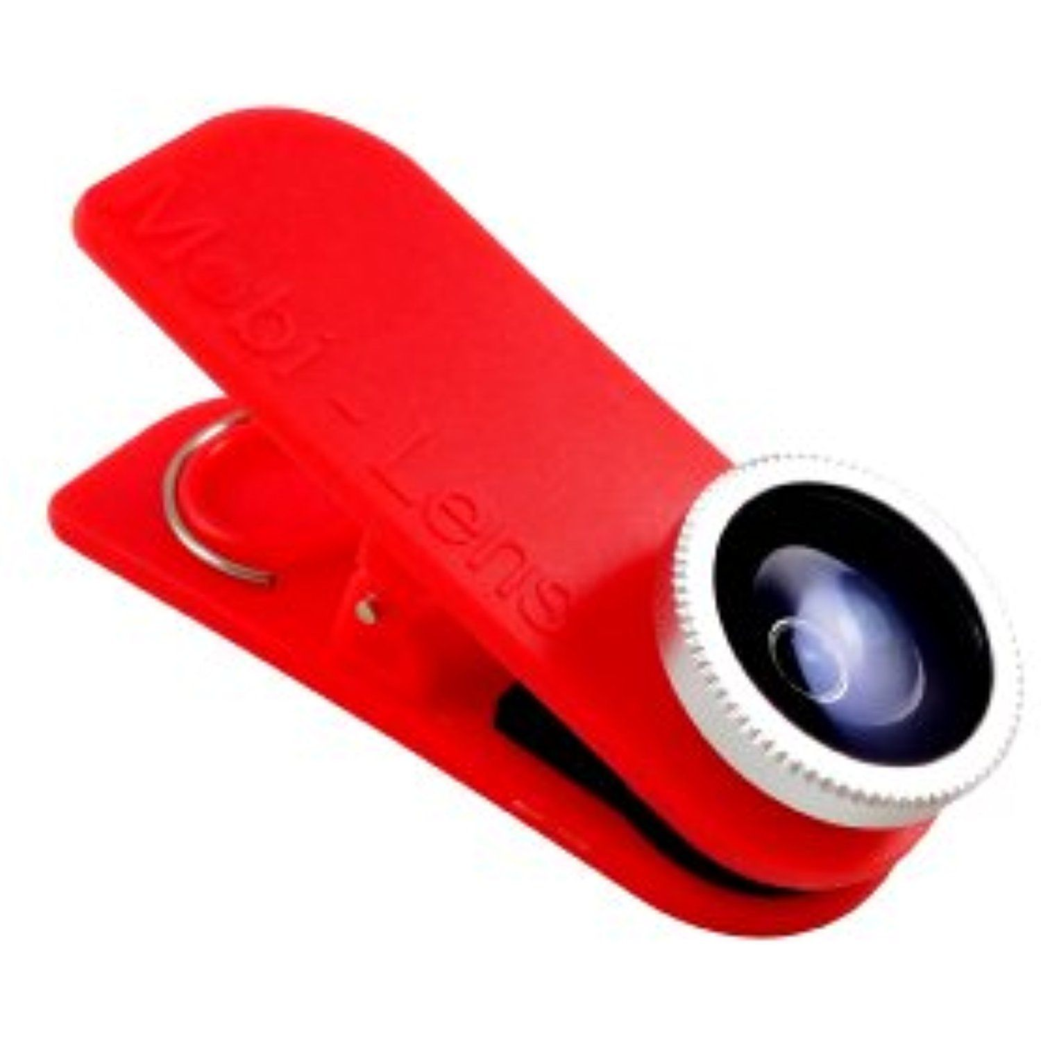 Mobi Lens Fisheye Cell Phone Camera Lens for iPhone 6 Samsung Galaxy 5 Red