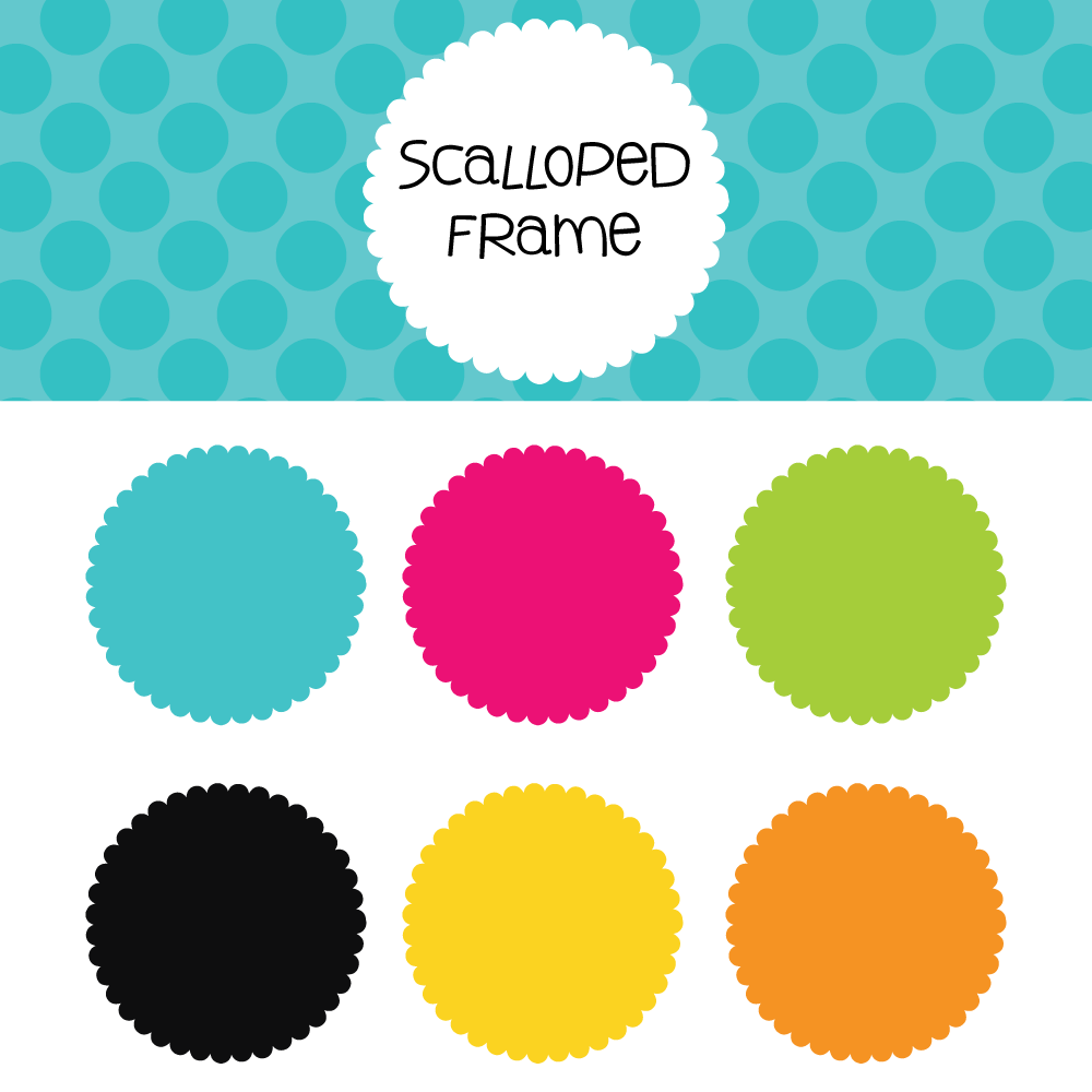 Scalloped Frame Free Download- 300 dpi png files | Hollen Zoo Design ...