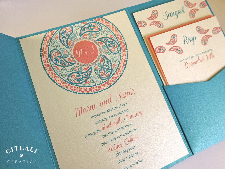 Paisley Mandala Wedding Invitations