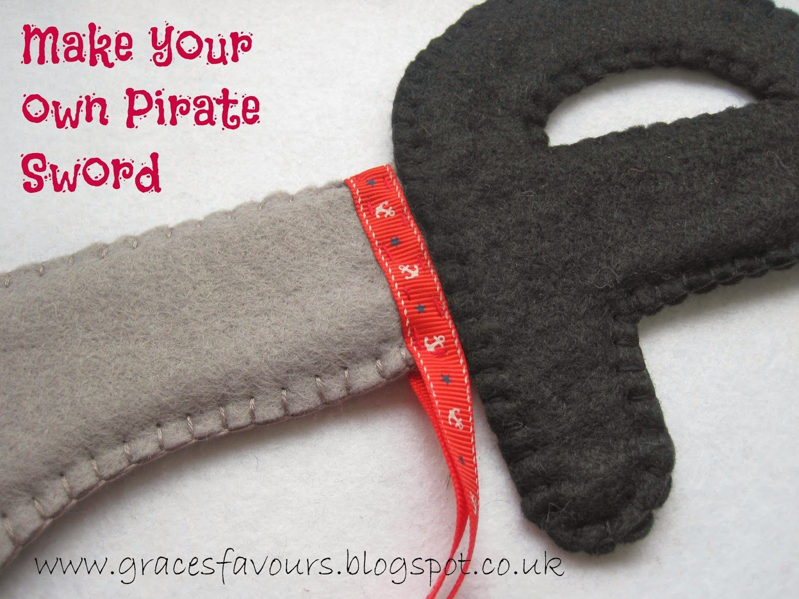 Grace's Favours - Craft Adventures: How to Make a Felt DIY Pirate Sword Tutorial #diypiratecostumeforkids