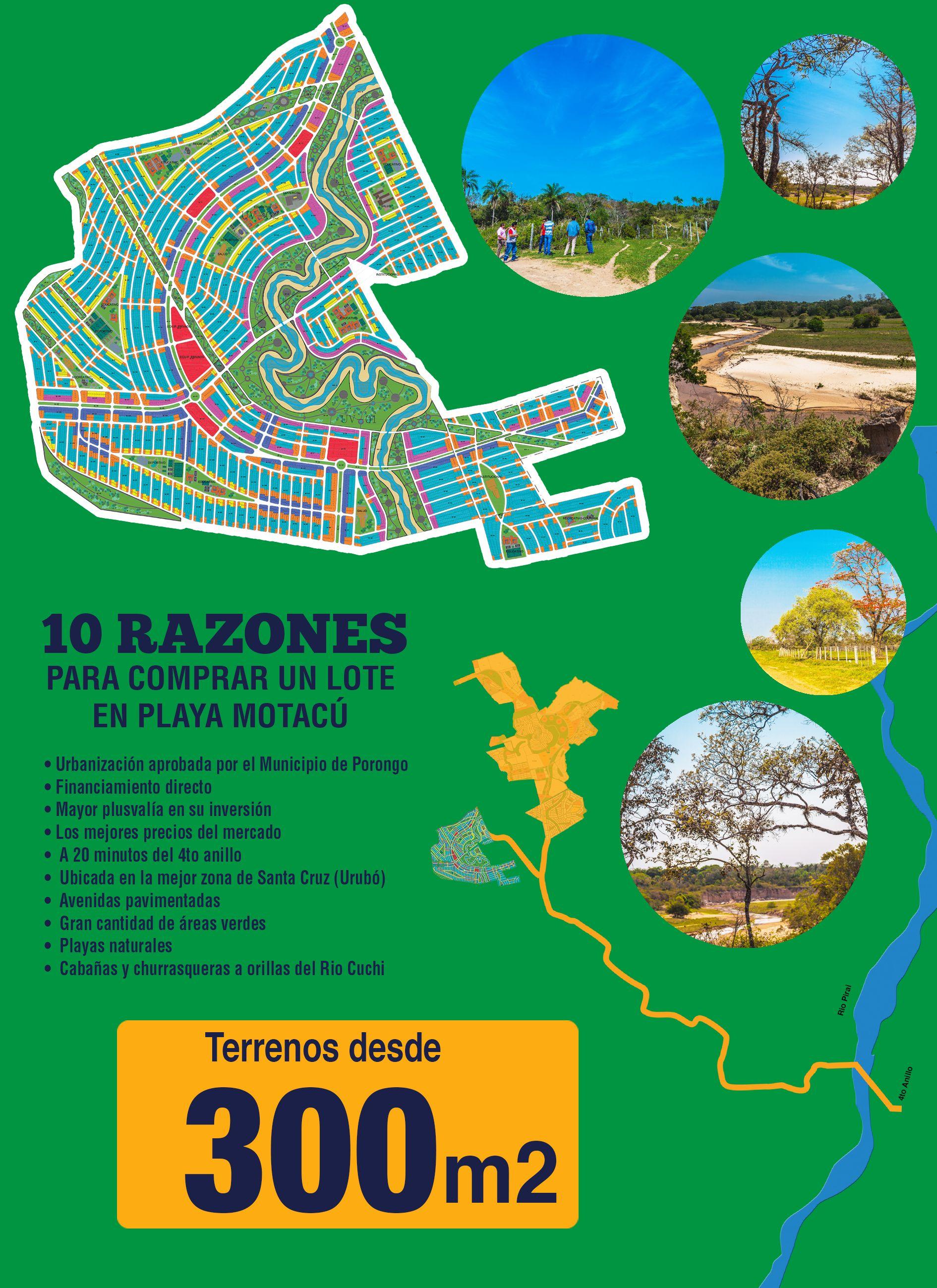 Plano general de los terrenos de Playa Motacu