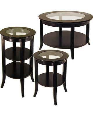 Genoa 3 Piece Coffee, Tall And Short End Tables