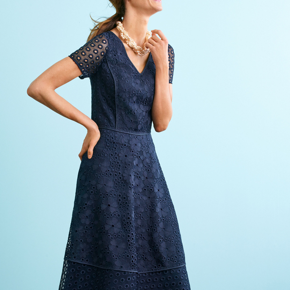 Lace And Eyelet Fit Flare Dress Talbots Flare Dress Fit Flare Dress Dresses [ 1000 x 1000 Pixel ]