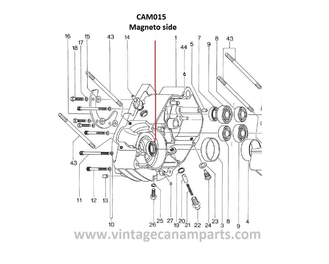 Cam015 Viton Crankshaft Seal Magneto Side 125175250cc Vcponline Rotax Engine Diagram For