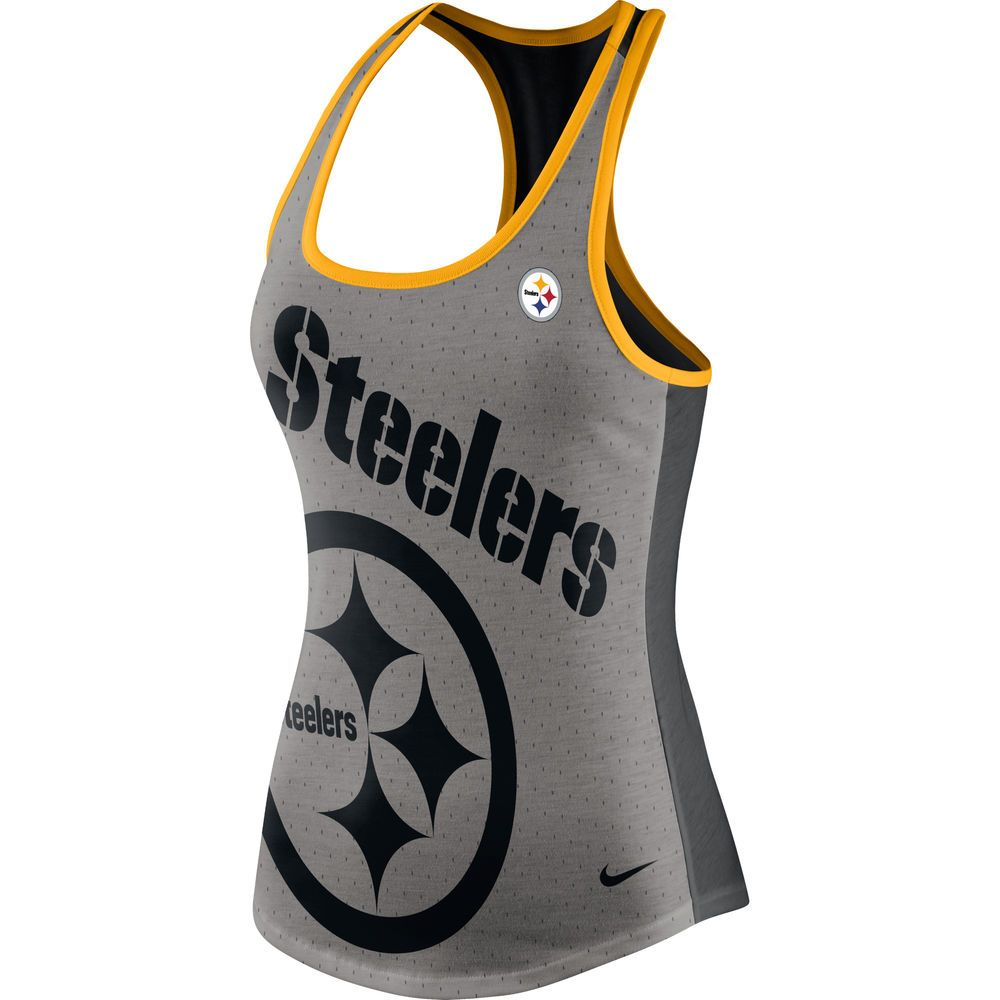 competitive price 08e20 c20ed Women's Pittsburgh Steelers Nike Gray/Black Touchdown Tri ...