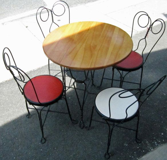 Vintage Pizza or Ice Cream Parlor Table & Chairs