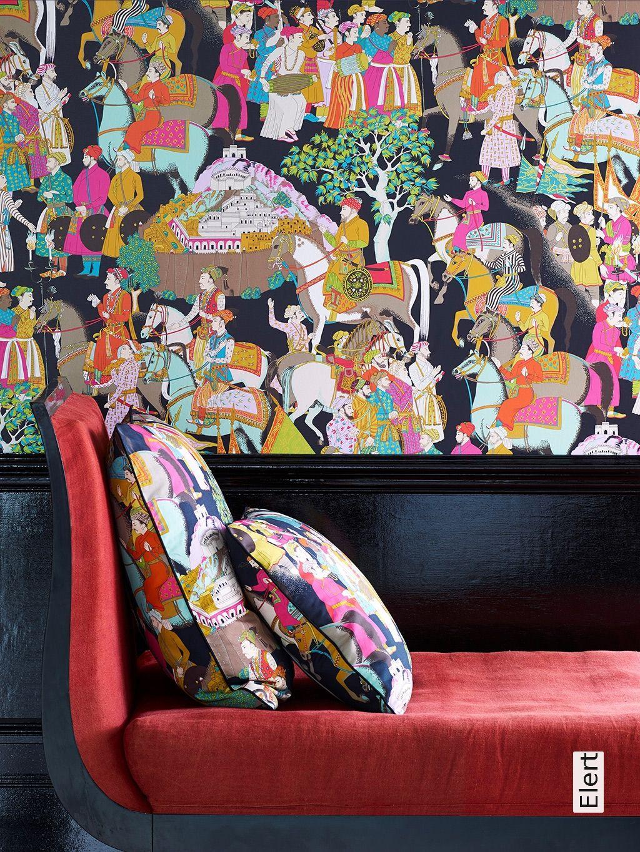 Tapete Elert. Moderne Wandgestaltung WandbilderOrientalischMosaikTiereStoffeWohnzimmerSchwarzerRetro