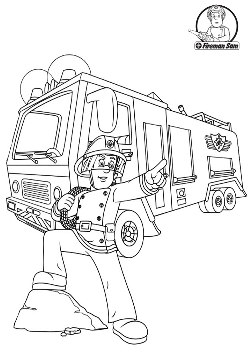 Cool Fireman Sam. more on bestbratzcoloringpages.com | Fireman Sam ...