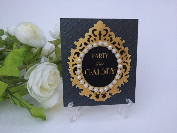 4 Gold and black candy buffet labels, gold candy tags, dessert table signs, gatsby party labels
