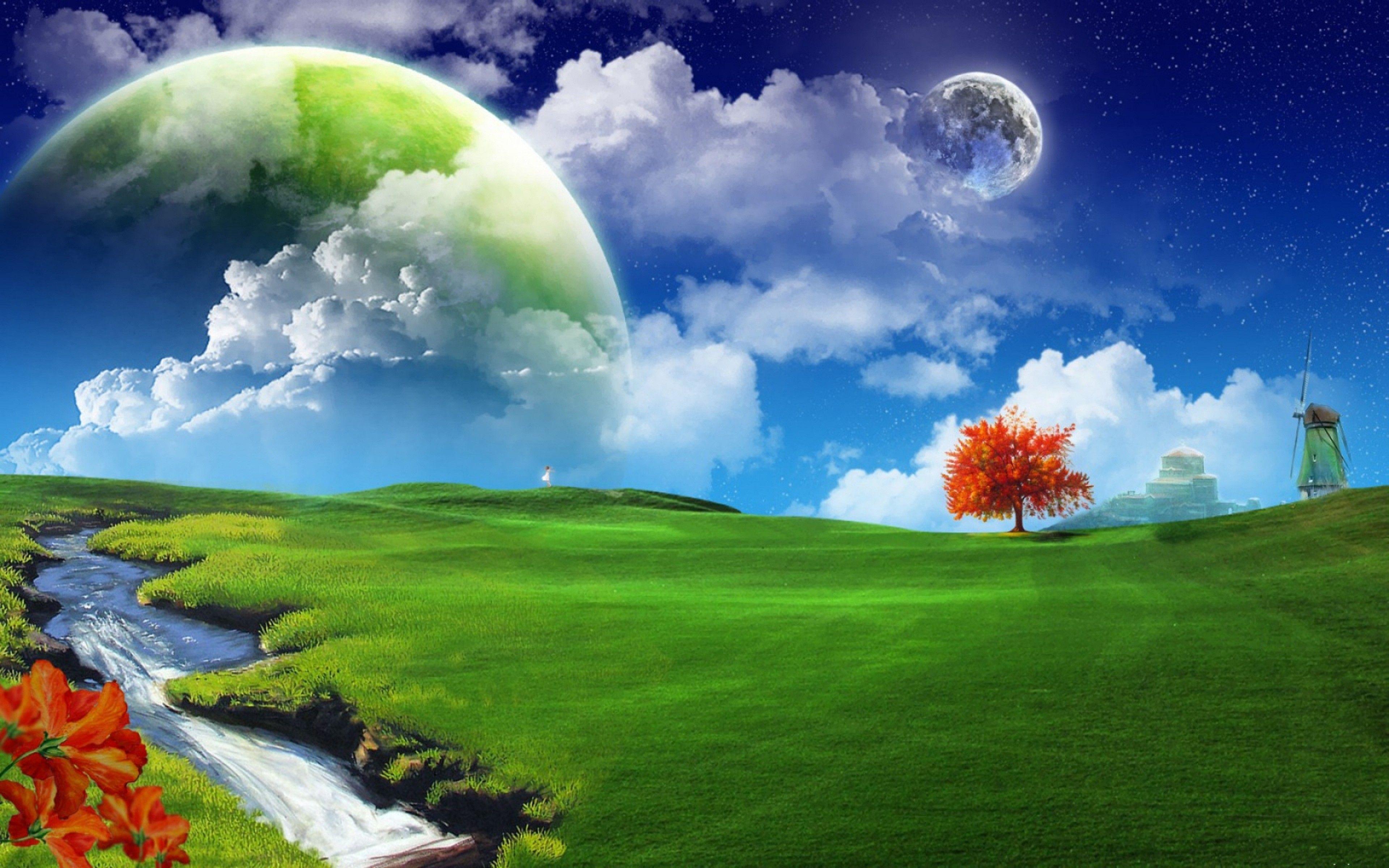 green field dreamy fantasy 3840—2400 Labor