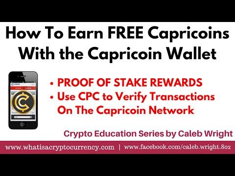 Capricoin Wallet: How To Staking Rewards [FREE CAPRICOIN