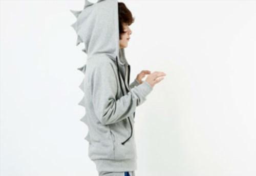 21.95$  Watch now - http://vicms.justgood.pw/vig/item.php?t=408kfy3170 - Kawaii Clothing Ropa Cute Dinosaur Animal Black Gray Harajuku Hoodie Sweatshirt 21.95$