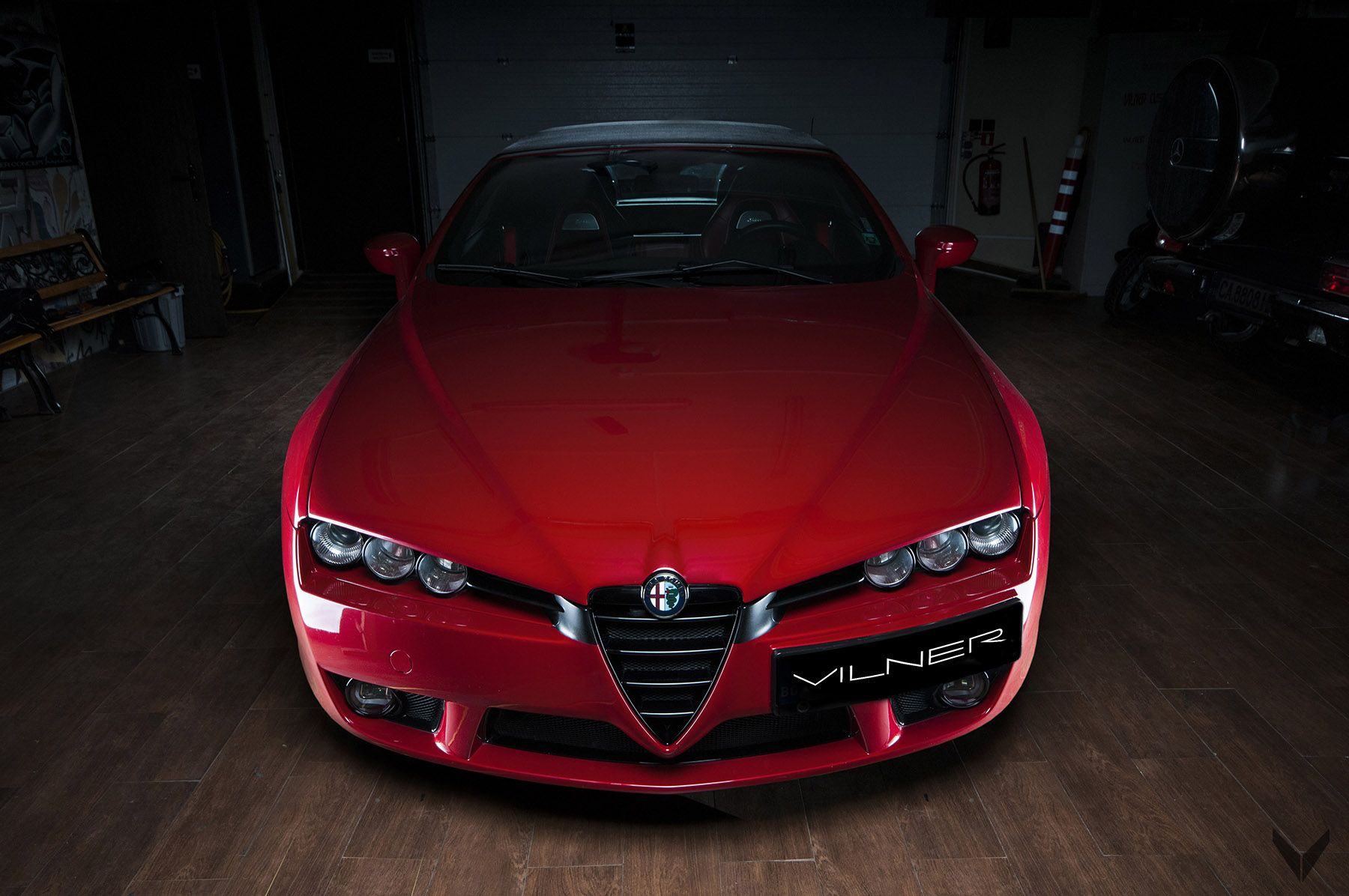 "Meet Vilner s Exclusive ""Fibra de Carbono Rosso"" Based on Alfa Romeo"