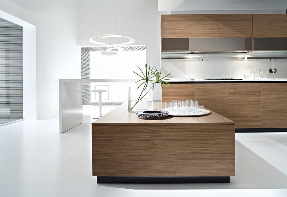 Pedini Dune Contemporary Walnut Wood Kitchen Design By Pedini
