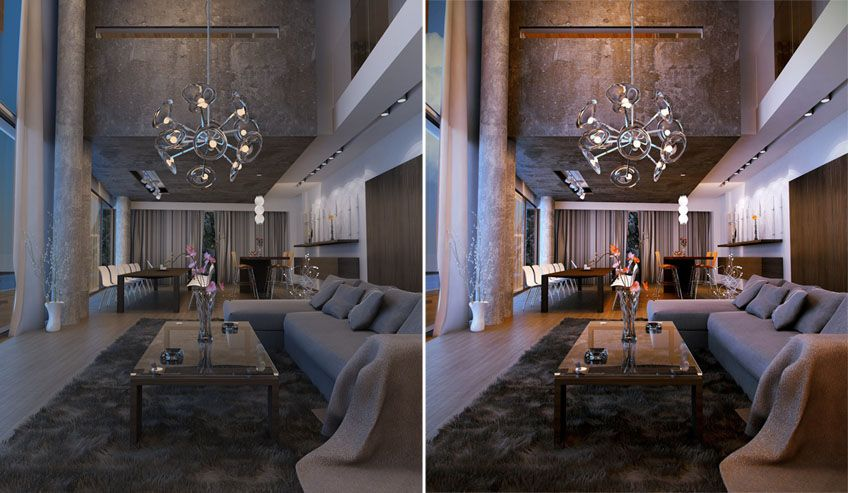 Awesome 3d Interior Renderings: GH House Interior Render Postwork By Anninos Konstantinos