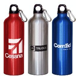 28oz Aluminum Bottle with a one-color custom imprint.  As low as $2.99 each