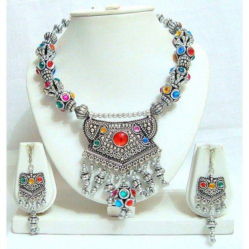 Garba Dandiya Navratri Necklace Set Multicolour 142 Online
