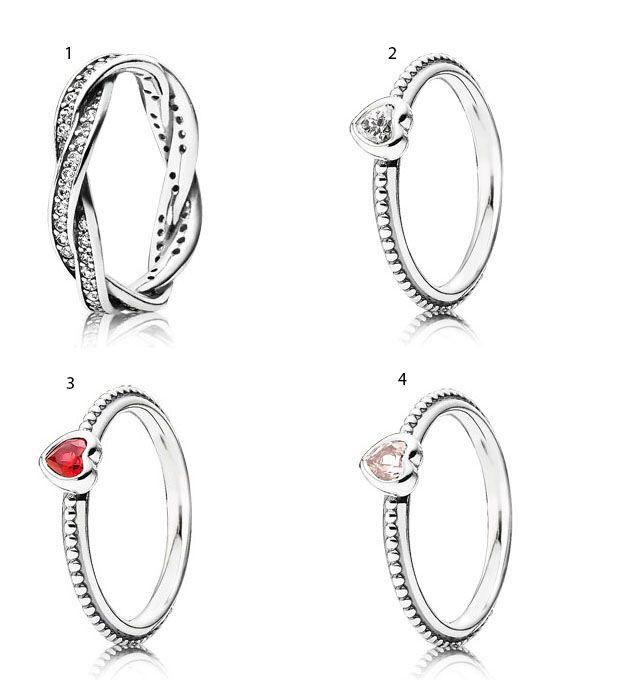 pandora anello cuore rosso