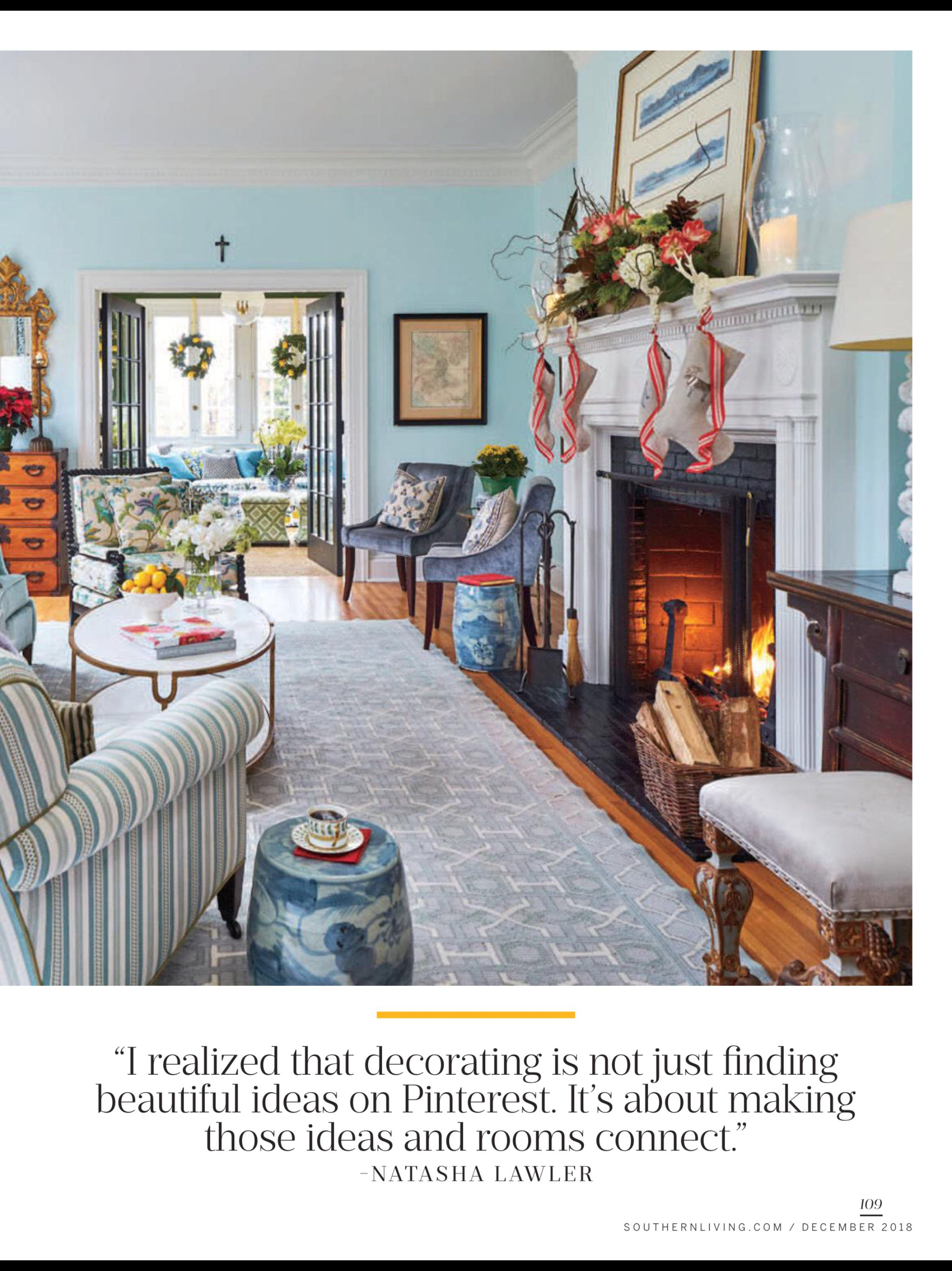 "House of Good Cheer"" from Southern Living December 2018 Read it on"