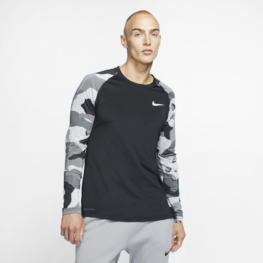 Nike Pro Men's Long-Sleeve Top. Nike.com #niketops
