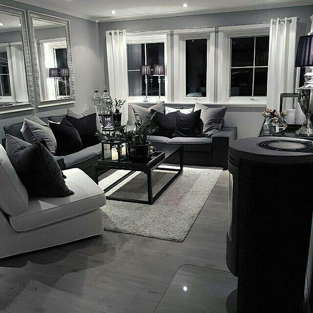 apartment ideas decoration salon noir